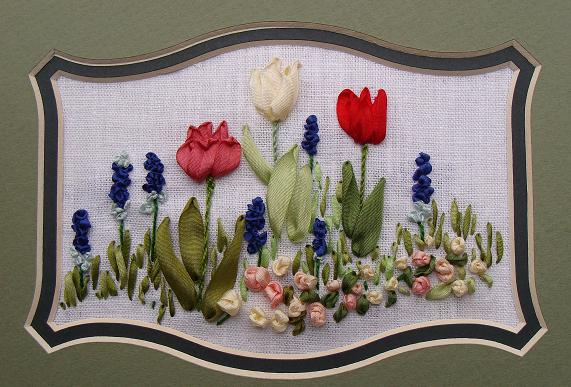 ribbon embroidery kit, online craft shop, buy, embroidery design, Tatiana Popova, silk ribbon embroidery kits online, embroidery kits for beginners, ribbon embroidery patterns, designs, silk ribbon spring flowers