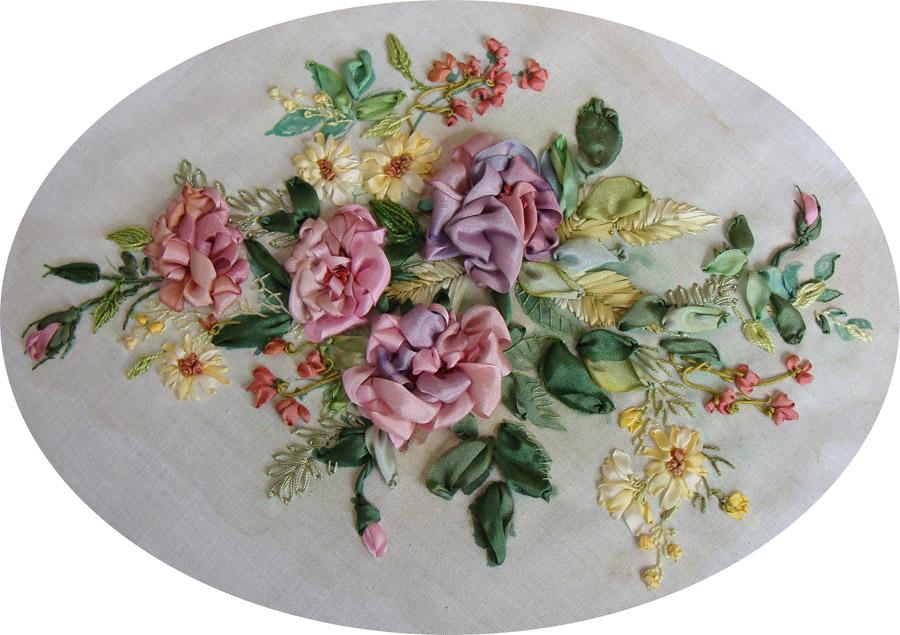 вышивка лентами набор купить, цветы вышивка лентами на тему осень, схемы
