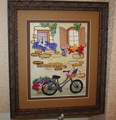 ribbon embroidery landscapes, silk ribbon embroidery, International contest, photo, projects, beginner guide, pattern