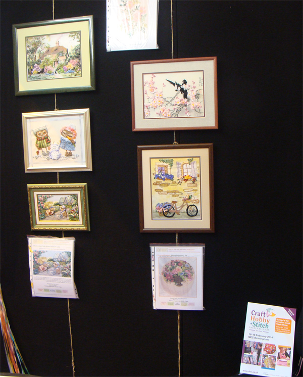 craft hobby and stitch international show, Birmingham, UK, embroidery, ribbons