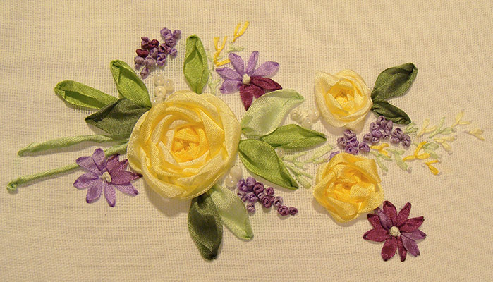 ribbon embroidery designs, free samples to download, beginner, guide, stitches