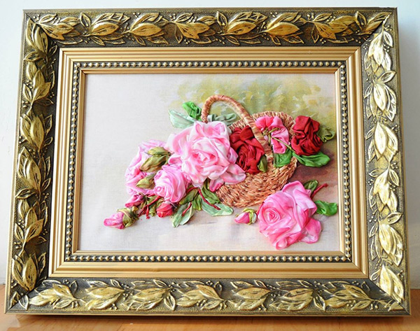 ribbon roses, silk ribbon, embroidery contest, International ribbon embroidery contest