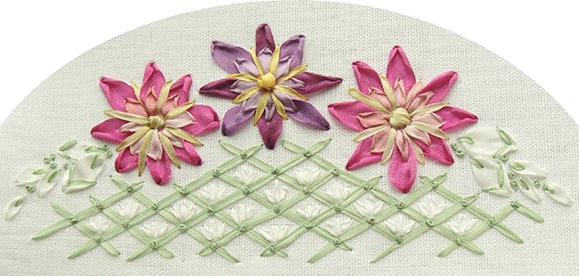 ribbon embroidery stitches flowers, free ribbon embroidery designs download, stitch guide for beginners