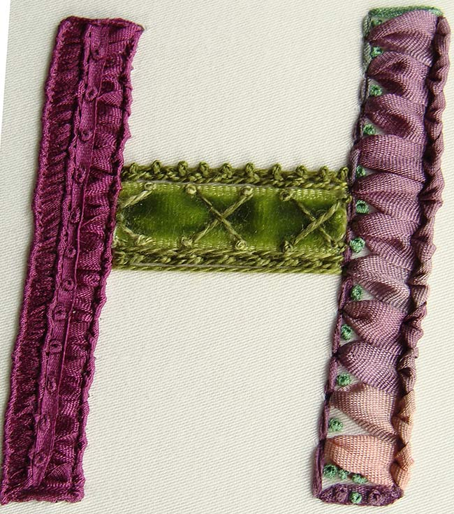 bespoke silk ribbon embroidery, embroidered logo, hand-embroidery, custom-made embrodiery