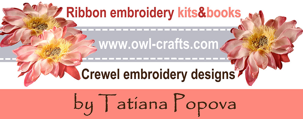 ribbon embroidery, silk ribbon embroidery, crewel embroidery designs, books on ribbon embroidery
