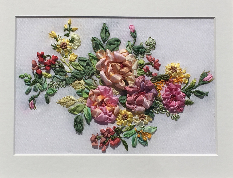 When Leaves Are Becoming Flowers Autumn In Silk Ribbon Embroidery