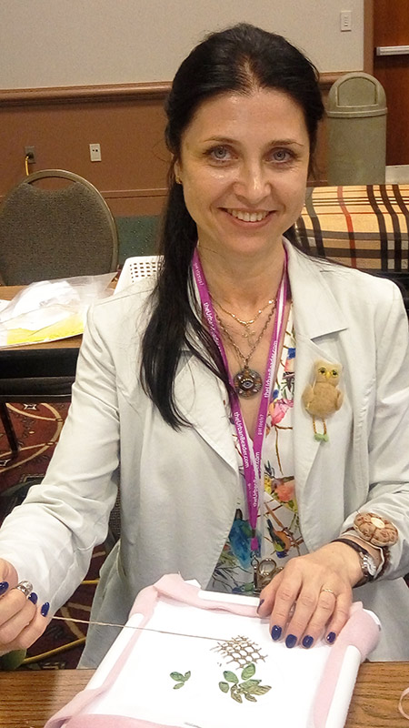 Tatiana Popova, Little Owl Smart Crafts TM, silk ribbon embroidery designers, ribbon embroidery classes