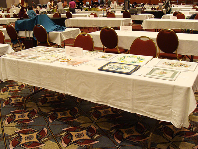 silk ribbon embroidery, meet the teachers reception, Bead and Button show, craft show