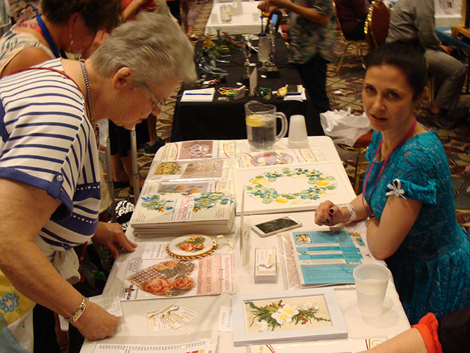 bead and button show, embroidery workshops, craft show and fair, silk ribbon embroidery book