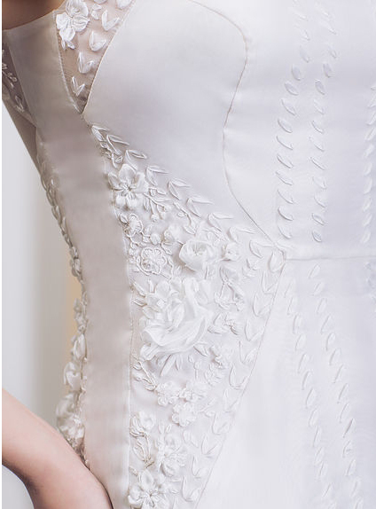 silk ribbon embroidery, ribbon embroidery for wedding, embroidered wedding dresses, bespoke embroidery