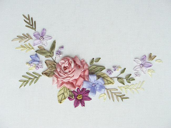 Silk Ribbon Embroidery In Seasonal Colour Palette