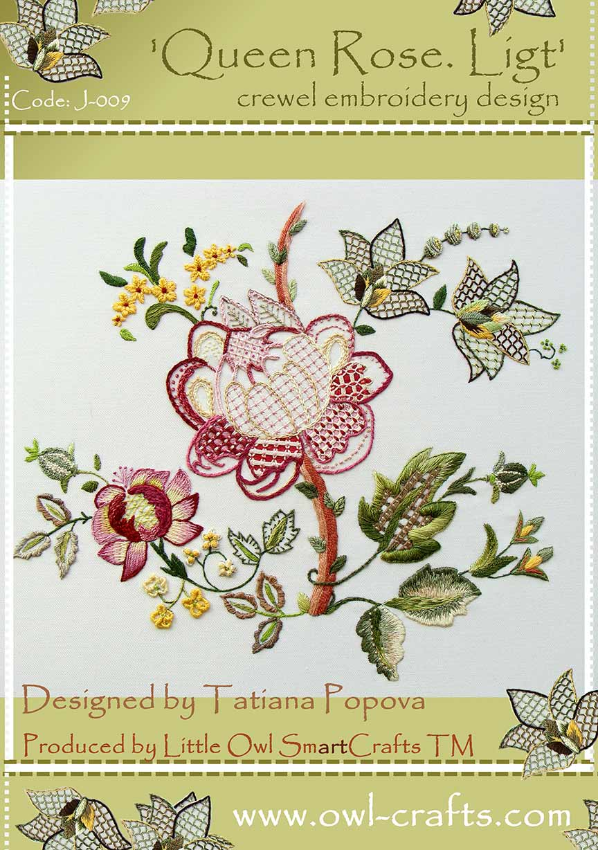 crewel embroidery, crewel kits, jacobean patterns, jacobean embroidery designs, crewel stitches, kits for crewel embroidery