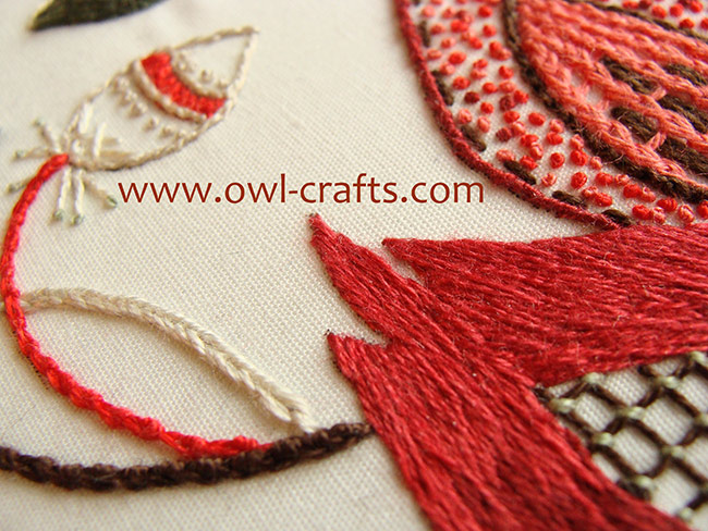crewel embroidery, crewel designs, crewel embroidery patterns, jacobean crewel, crewel stitches beginners.