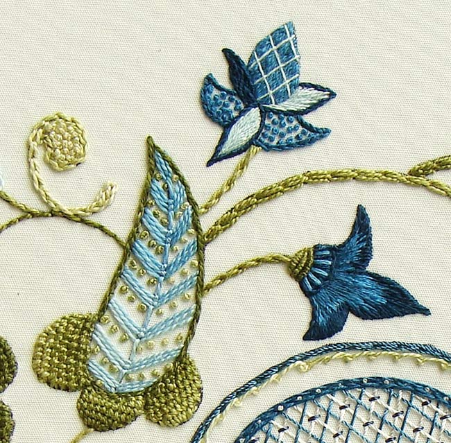 crewel workshops, crewel embroidery designs, crewel patterns, crewel stitches, crewel embroidery kits