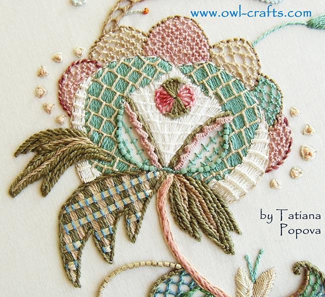 crewel embroidery, jacobean patterns, crewel designs, fresh ideas for crewel embroidery