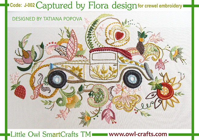 crewel embroidery patterns, crewel stitches, fresh ideas for crewel embroidery, jackobean embroidery esigns