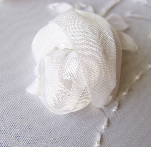 ribbon rose, silk ribbon, wedding decoration, accessories, ribbon embroidery for bride dresses