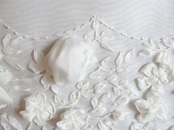 white ribbon for wedding, silk ribbon, wedding embroidery, accessories, buy, natural silk