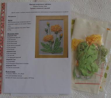 В набор по вышивке лентами входят, схемы вышивка лентами для начинающих