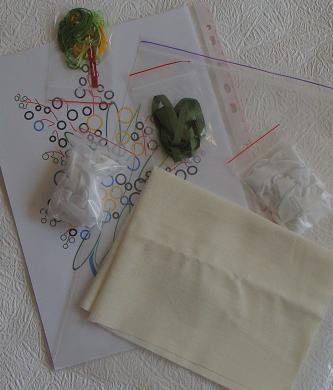 наборы для вышивки лентами, простые схемы для начинающих вышивать лентой