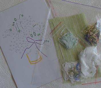 Tatiana Popova embroidery designs, ribbon embroidery kits, buy online, silk ribbon embroidery, ribbon embroidery kits for intermediate level, craft shop, SRe kits contain