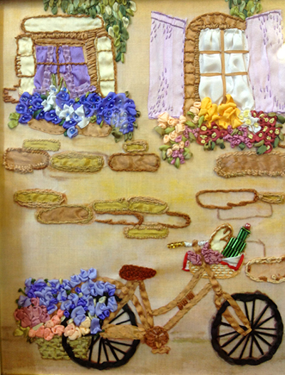 international ribbon embroidery contest, silk ribbon embroidery, designs