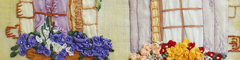 ribbon embroidery, landscapes, ribbon embroidery kits to buy, embroidery guide