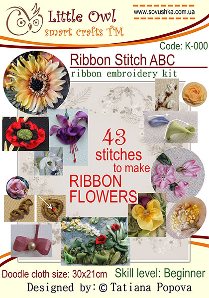 ribbon embroidery stitches, beginner`s guide to silk ribbon embroidery, ribbon embroidery kits, ribbon embroidery designs for beginners