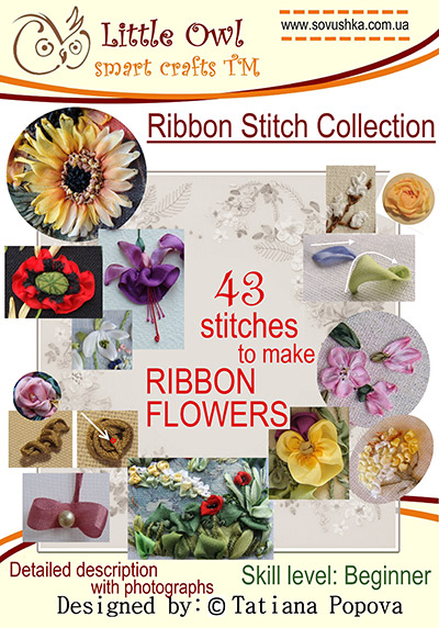 Silk ribbon embroidery basics, stitch guide for beginners..