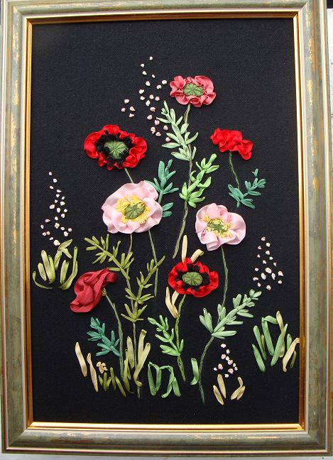 ribbon embroidery kit, ribbon embroidery design, ribbon embroidery gallery, silk ribbon embroidery kits, embroidery kits for beginners, ribbon embroidery patterns, silk ribbon poppies