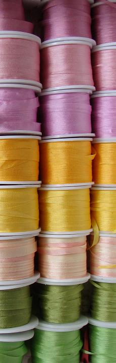 silk ribbon for embroidery, natural silk ribbon, silk ribbon for beginners in ribbon embroidery
